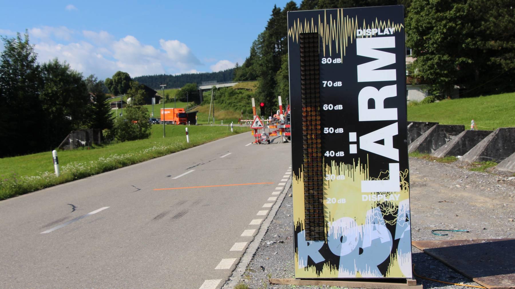 Das Lärmmessgerät am Stoss in Altstätten wird versetzt.