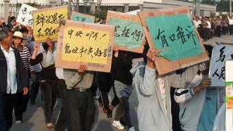 Bilder der Proteste in Südchina