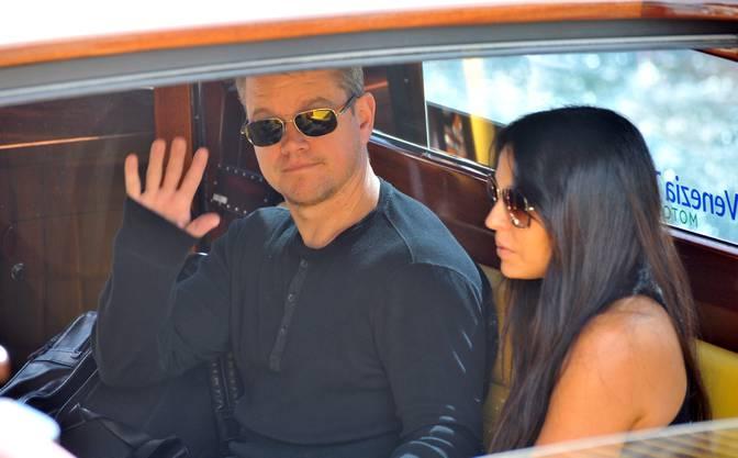 Matt Damon und seine Frau Luciana Barroso