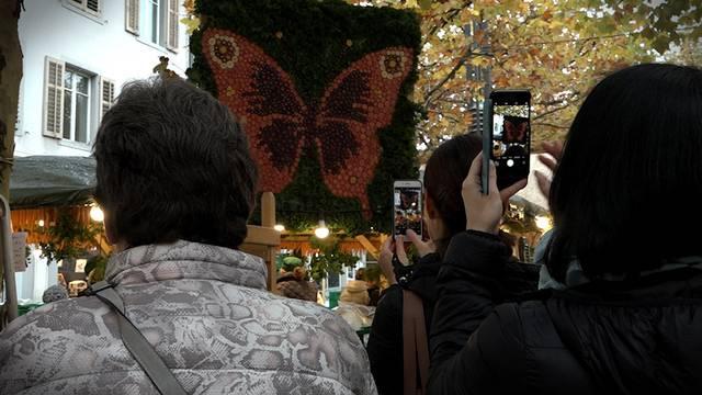 Es ist Rüeblimärt in Aarau, aber: «Die Leute kommen ja nicht nur wegen den Rüebli»