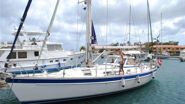 Jachthäfen sind selten in der Karibik, für einmal darf die «Lupina» in einem ausruhen.
