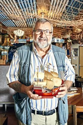 Richner hat in 35 Jahren auf 22 Schiffen gearbeitet.