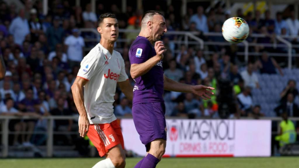 Gipfelduell in Florenz: Franck Ribéry (rechts) gegen Cristiano Ronaldo