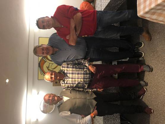 Vorstand MR Lostorf von links: Erich Marrer, Aktuar, Roli Giger, Oberturner, Heinz Indergand, Präsident, René Peier, Kassier