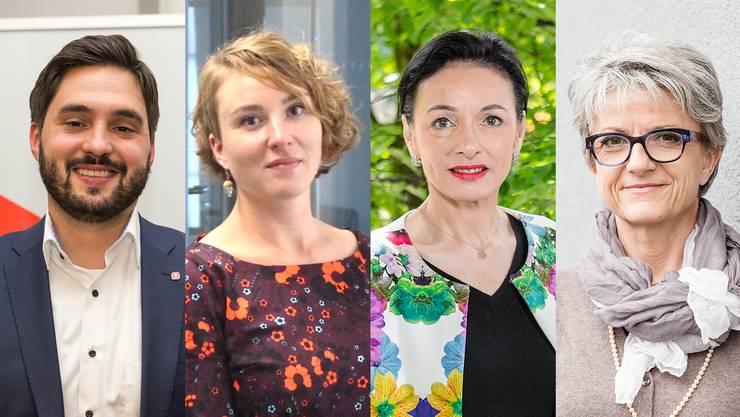 Cédric Wermuth (SP) ist bereits nominiert, Irène Kälin (Grüne) will eine Frau im Stöckli, Marianne Binder (CVP) ist die einzige nominierte Frau und Maya Bally könnte von der BDP aufgestellt werden