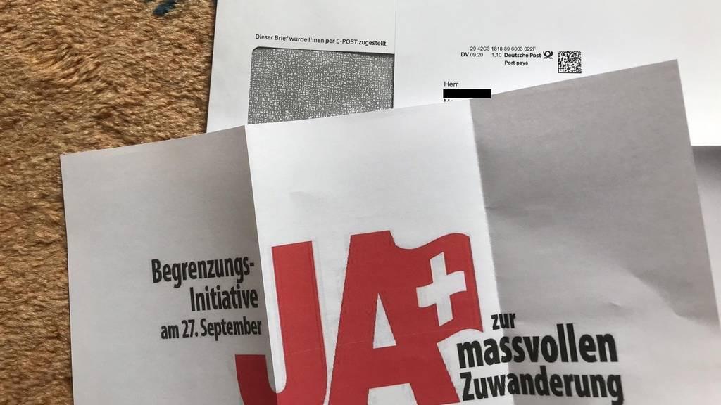 Abstimmungsflyer über deutsche Post versandt: SVP reicht Anzeige ein