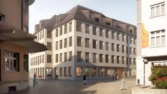 Der Neubau des Hotels Schiff – hier in einer Visualisierung – steht noch bevor.zvg