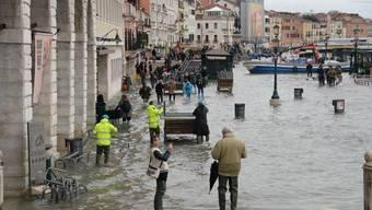 Höchster Wert seit 50 Jahren: Venedig versinkt im Hochwasser