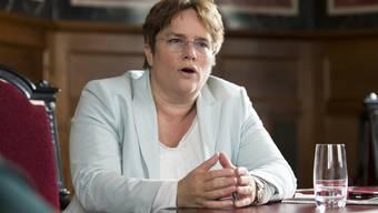 Im Bundesratszimmer interviewt und fotografiert: Nationalrätin Magdalena Martullo-Blocher diese Woche am Rande der Session.