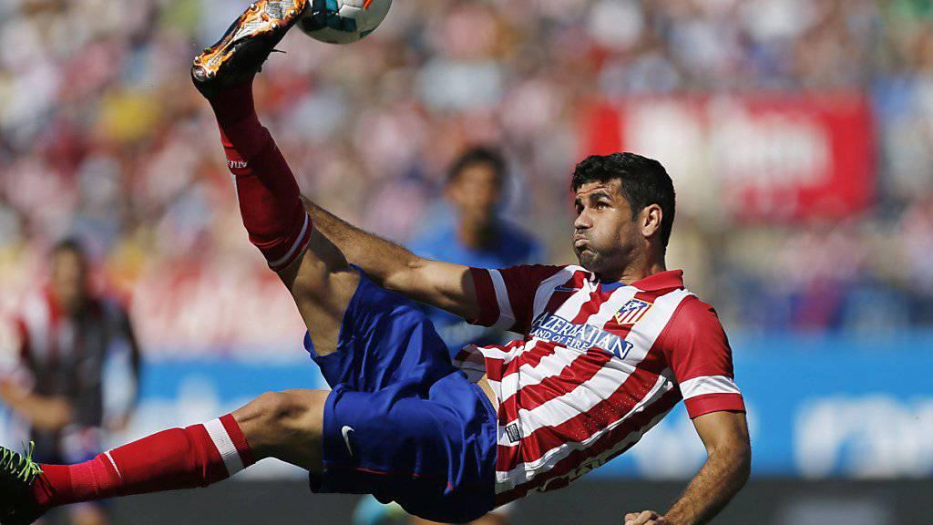 Diego Costa wird bald wieder im Trikot von Atlético zu bewundern sein (Archiv)