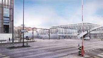 Im Begegnungssraum im neuen Bundesasylzentrum auf dem Duttweiler-Areal soll die Bevölkerung mit Asylsuchenden in Kontakt kommen. (Archiv)