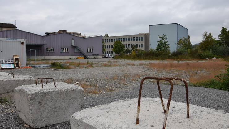 Eine Turnhalle, zwei Pavillon, eine Tagesschule: Die Stadt plant auf dem unbebauten Hunziker-Areal eine provisorische Schulanlage.