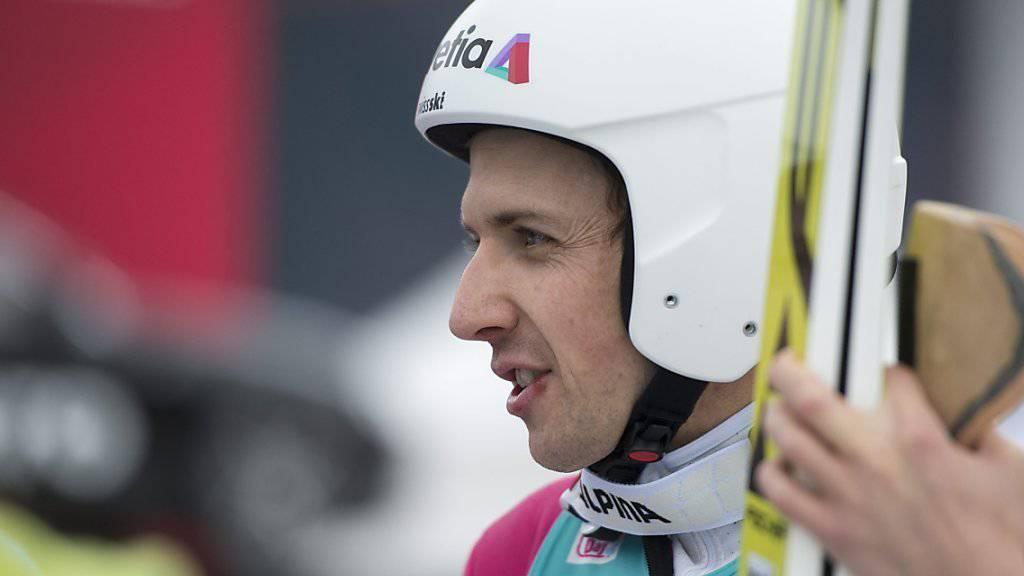 Darf mit der Leistung in der Qualifikation zufrieden sein: Simon Ammann