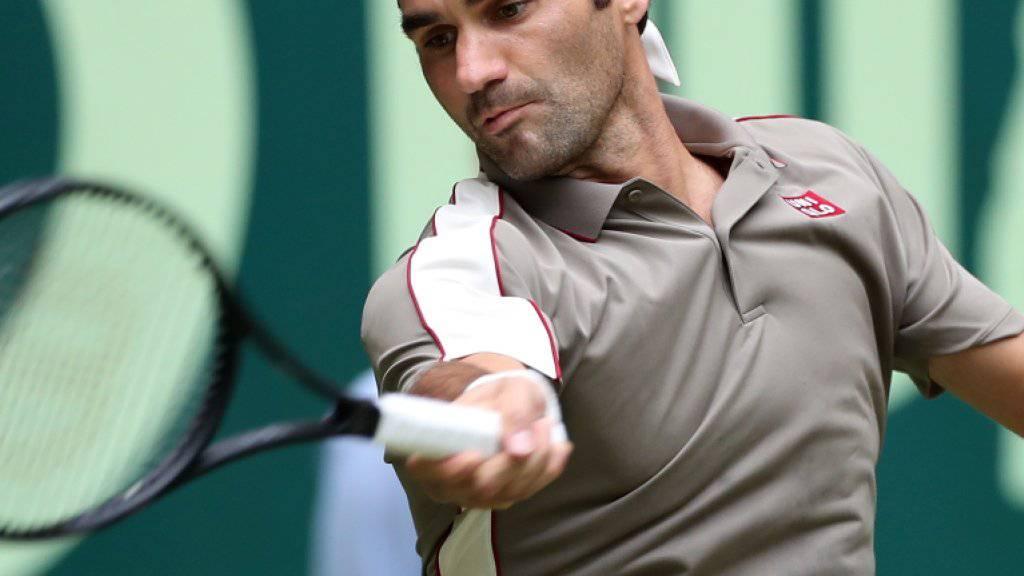Roger Federer übersteht in Halle die erste Runde ohne Mühe