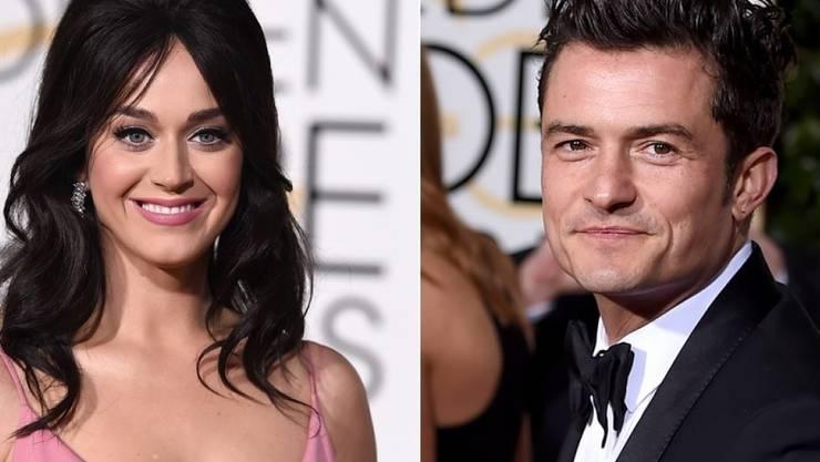 Gekommen sind sie getrennt, gegangen offenbar zusammen: Bei den Golden Globes soll es zwischen Katy Perry und Orlando Bloom gefunkt haben (Archiv).