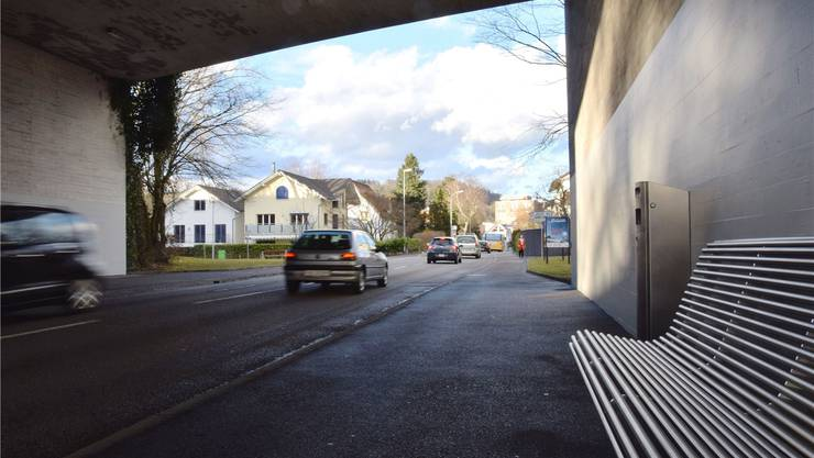 Auf der Schöneggstrasse soll eine Geschwindigkeitsbegrenzung genauer geprüft werden. mhu/Archiv az