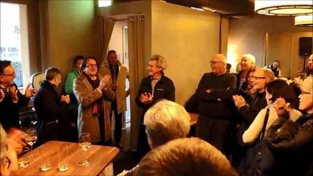 Wahlfeier von Erich Obrist, neuer Badener Stadtrat