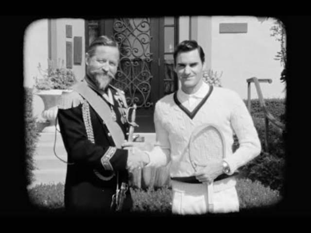 Federer spielte schon Tennis, noch bevor Farben erfunden wurden.
