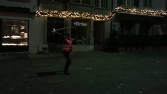 Geisselklöpfen und Trommelwirbel am frühen Donnerstagmorgen in der Lenzburger Innenstadt.