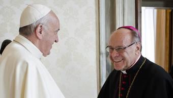 Der Papst hat den Rücktritt des 75-jährigen Bischofs zwar angenommen, aber erst auf Ostern 2019.