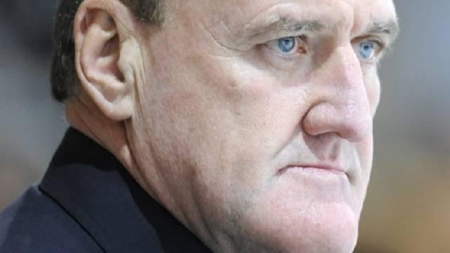 Grimmiger Blick von Biels Trainer Kent Ruhnke
