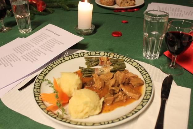 Ein feines Nachtessen erwartete die Gäste