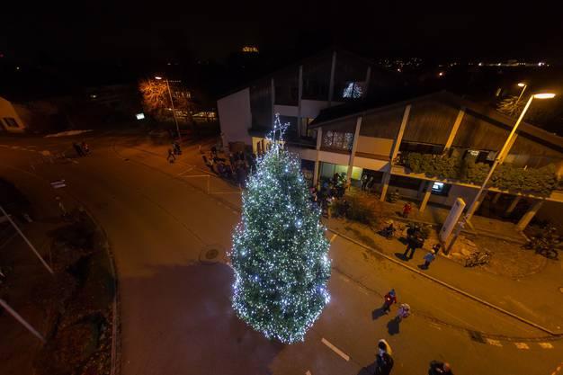 Staufen schmückt seinen Weihnachtsbaum
