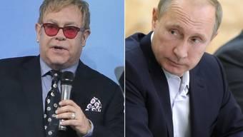 Wladimir Putin hat sich mit Elton John zum Kaffeklatsch verabredet - jedes Gesprächsthema angeblich willkommen (Archiv).