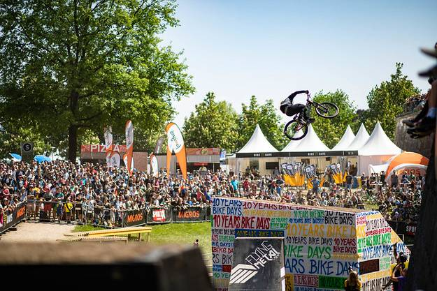 Rogatkin Nicholi an den Bike Days 2018 im Dirtjump-Final