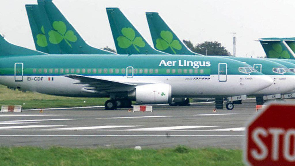 Flugzeuge von Aer Lingus auf dem Flughafen von Dublin. (Archiv)