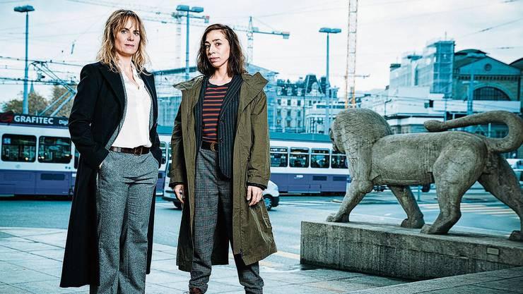 Zürcher Kommissarinnen: Anna Pieri Zuercher (l.) als Isabelle Grandjean und Carol Schuler als Tessa Ott.