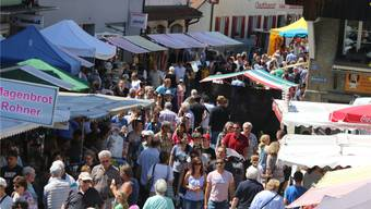 Der Frühlingsmarkt sorgte für einen starken Besucherstrom. dka