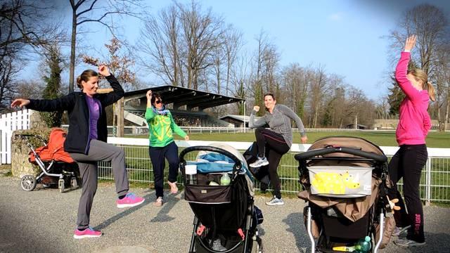 Joggen, Treppensteigen, Rumpfbeugen: So geht Mama-Fitness.