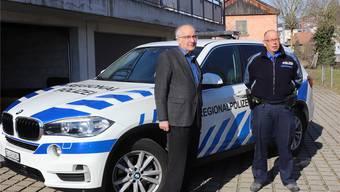Die obersten Sicherheitsbeauftragten im Zurzibiet: Klingnaus Stadtammann Reinhard Scherrer (l.) und der Chef der Regionalpolizei, René Lippuner. skn