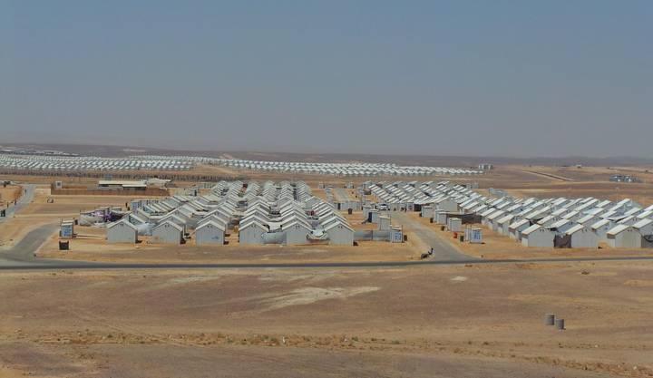 Das Flüchtlingslager Azraq ist eine Stadt aus Blechhütten von der Grösse Schaffhausens.