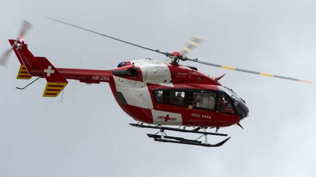 Ein Helikopter der Rega (Symbolbild)
