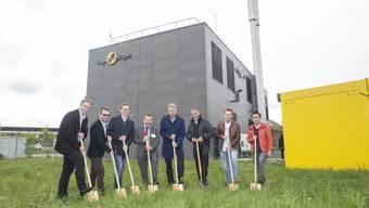 Spatenstich zur Forschungsanlage zum Power-to-Gas-Verfahren in Zuchwil