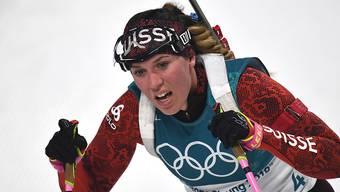Einzig Lena Häcki fuhr beim Weltcup in Kontiolahti in die Punkte-Ränge