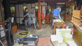 Restaurant Einsiedelei Rüttenen Wasserschaden Aufräumarbeiten