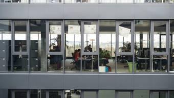 Die neuen Büroräumlichkeiten der Nachrichtenagentur Keystone-SDA im Berner Wankdorf-Quartier.