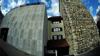 Stadtmuseum Aarau, Neubau und alter Schlössli-Turm, entworfen von Diener & Diener.