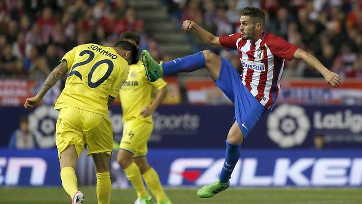 Der spanische Internationale Koke schoss zwei herrliche Treffer beim ersten Saisonsieg von Atlético Madrid