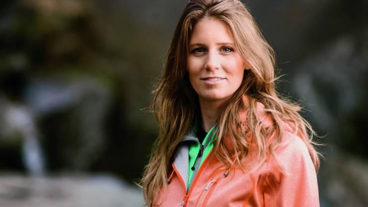 Die Bündner Moderatorin Annina Campell erwartet im Sommer ihr zweites Kind. (SRF/Samuel Trümpy)