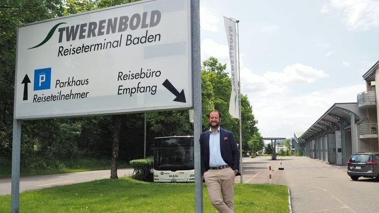Karim Twerenbold am Hauptsitz in Baden Rütihof. (Archivbild)