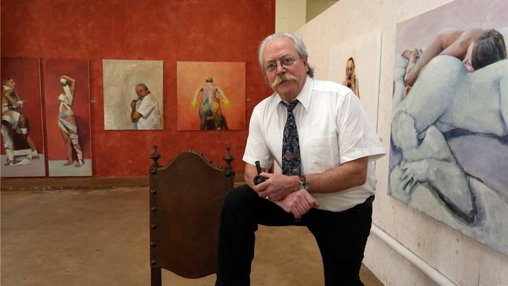 Christoph R. Aerni lädt in seinem Atelier in Egerkingen zur Jubiläumsausstellung ein.