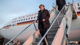 Sicher gelandet: Kanzlerin Angela Merkel in Washington DC