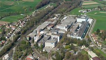 Die «Papieri» in Biberist: Die flächenmässigen Dimensionen der ehemaligen Sappi-Papierfabrik werden erst aus der Luft ersichtlich. Simon Dietiker
