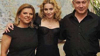 Madonna bei Herr und Frau Netanjahu