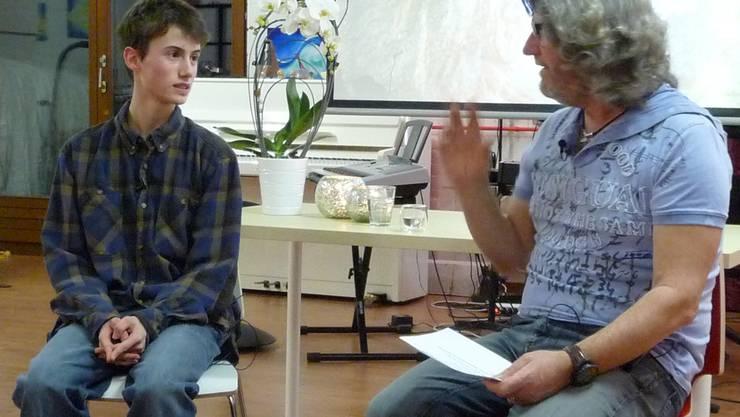 Dominik Rieger, befragt von Tino Mosca.