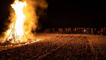 Mahnfeuer der Gäuer Bauern